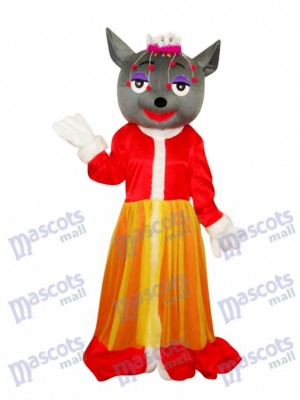 rouge Loup Mascotte Costume adulte Animal