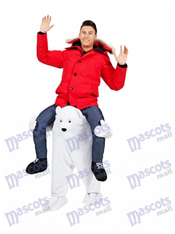 Costume mascotte ours polaire Carry Me Mascotte ours blanc