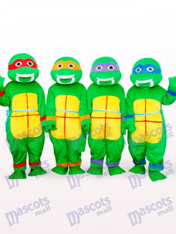 Quatre Vert Teenage Mutant Ninja Turtles Anime Adulte Mascotte Costume
