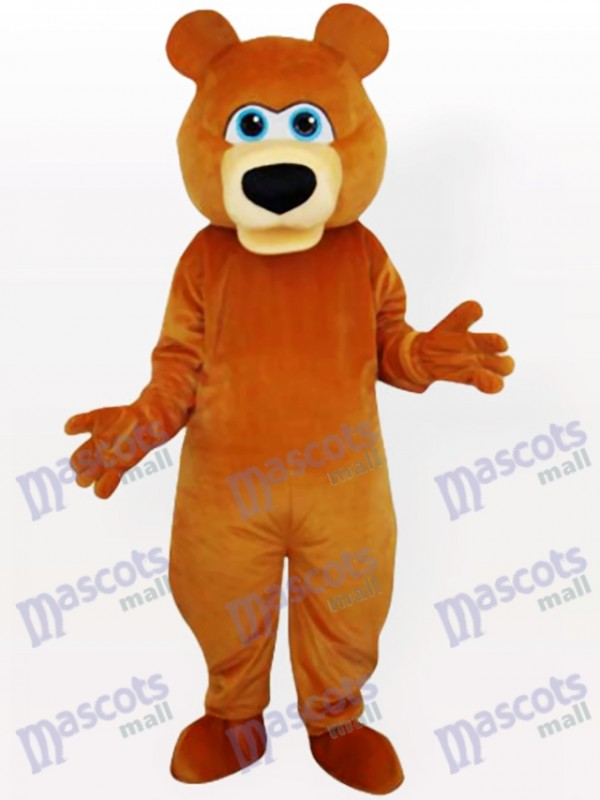 Costume drôle mascotte adulte ours