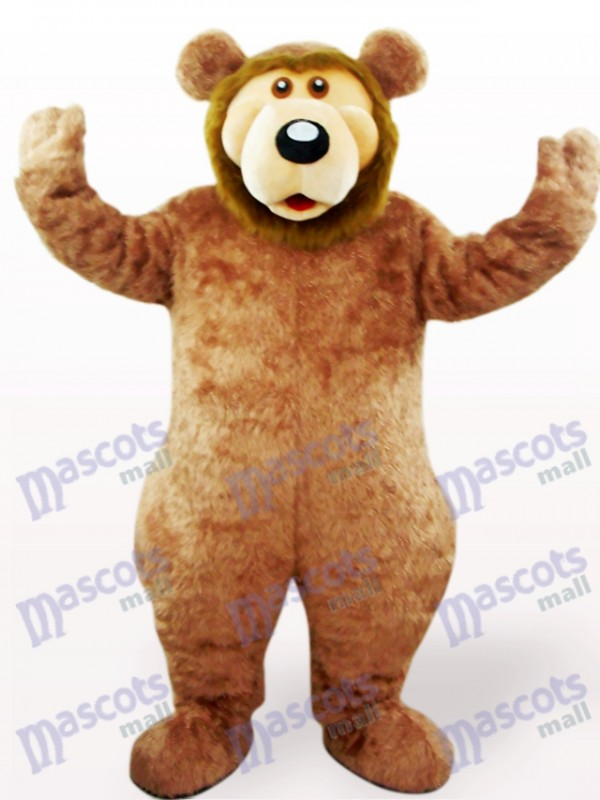 Costume de mascotte adulte animal ours brun
