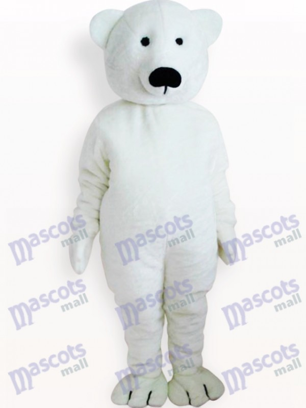 Costume de mascotte adulte animal ours blanc