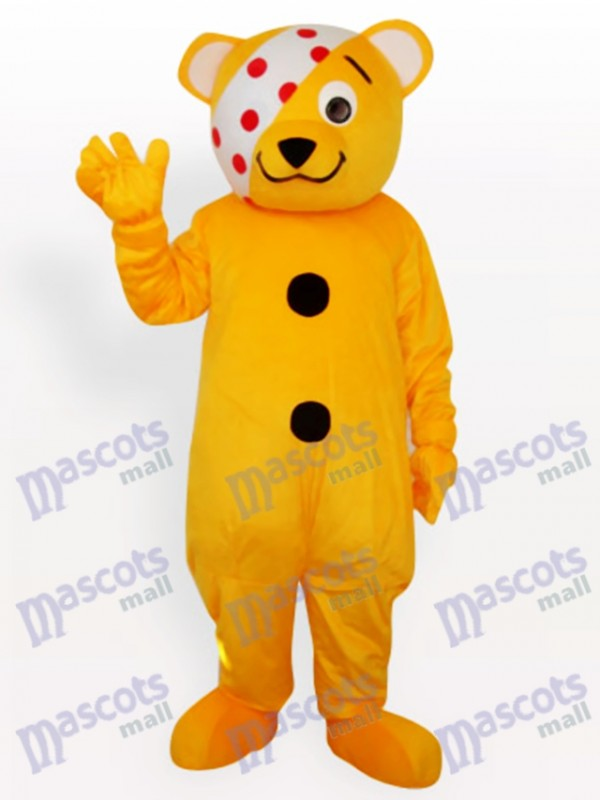 Costume de mascotte animal ours clown