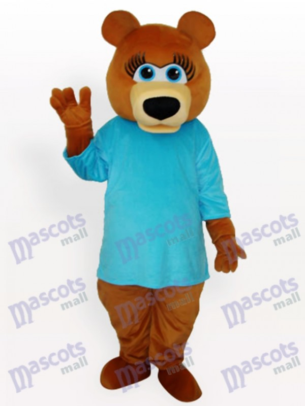 Bleu Ours Animal Costume de mascotte