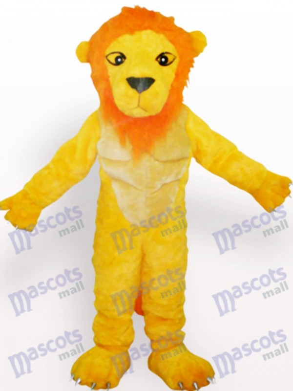 Costume de mascotte jaune lion animal