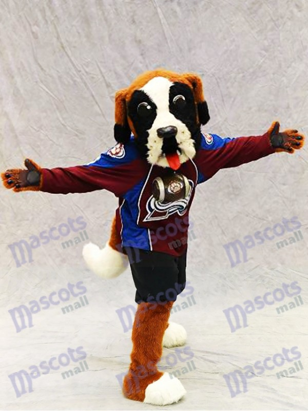 Bernie le chien Saint Bernard Colorado Costume de mascotte d'avalanche Animal