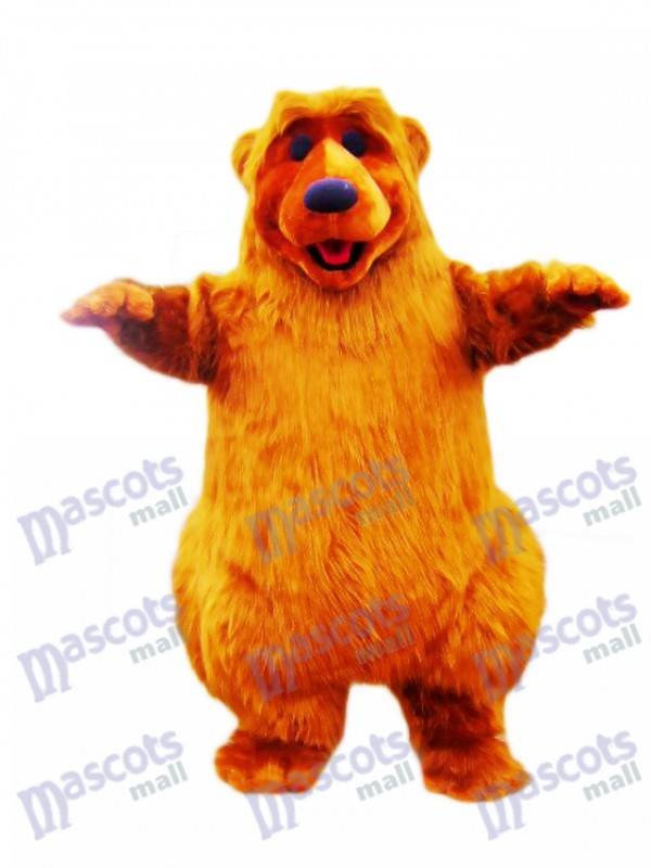 Costume mascotte ours brun clair Animal