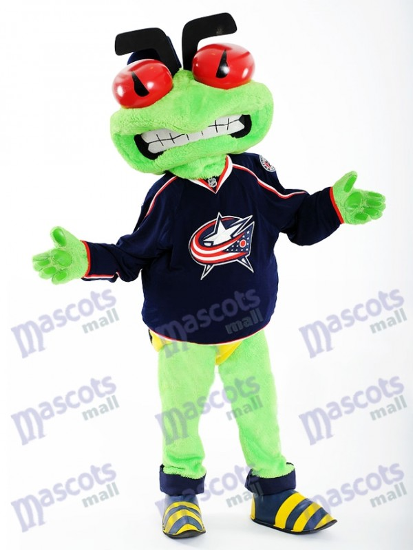 Stinger the Blue Jackets Blouse Columbus Blue Jackets Costume Insectes