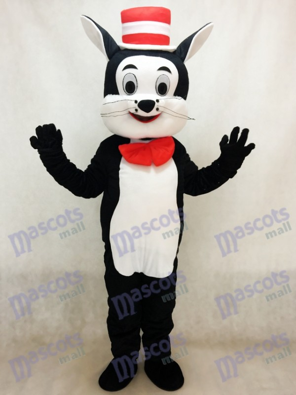 Chat dans le chapeau Costume de mascotte Cartoon Animal