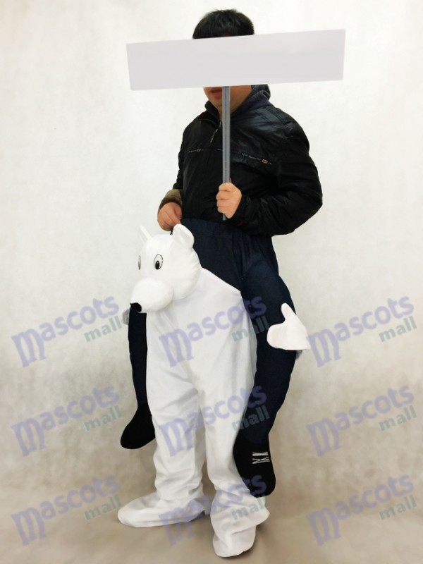 Piggyback ours polaire Carry Me Mascotte Costume Ours Blanc Mascotte