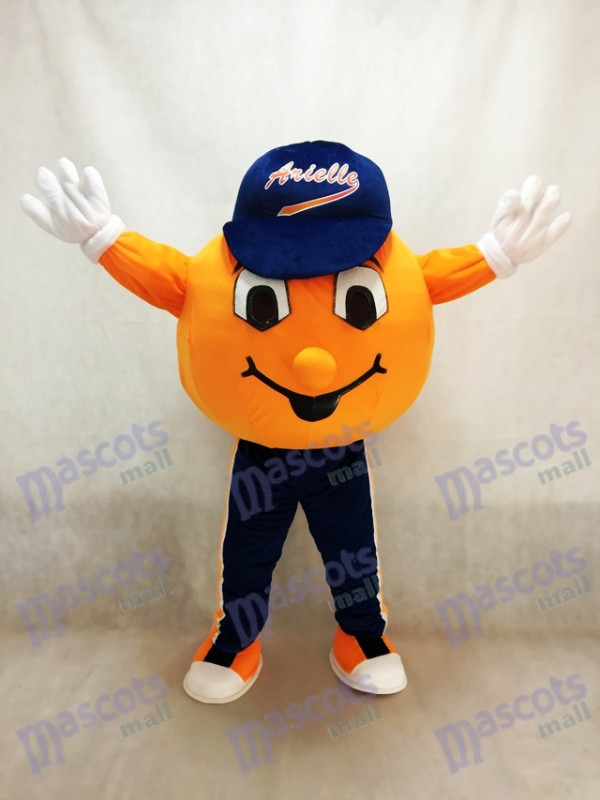 Costume de la mascotte orange de l'Université Syracuse Orange Otto