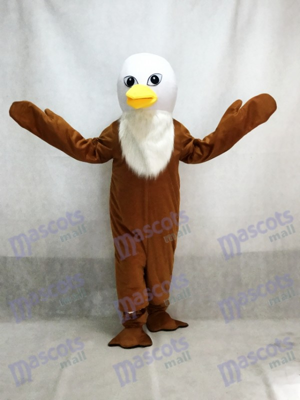 Déguisement de mascotte des aigles marron Costume adulte