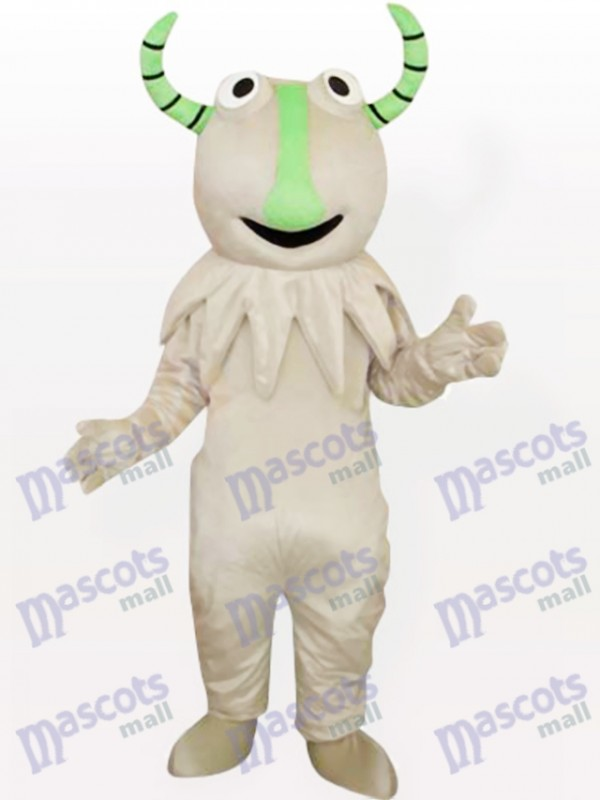 Costume de mascotte adulte gris Monster Party