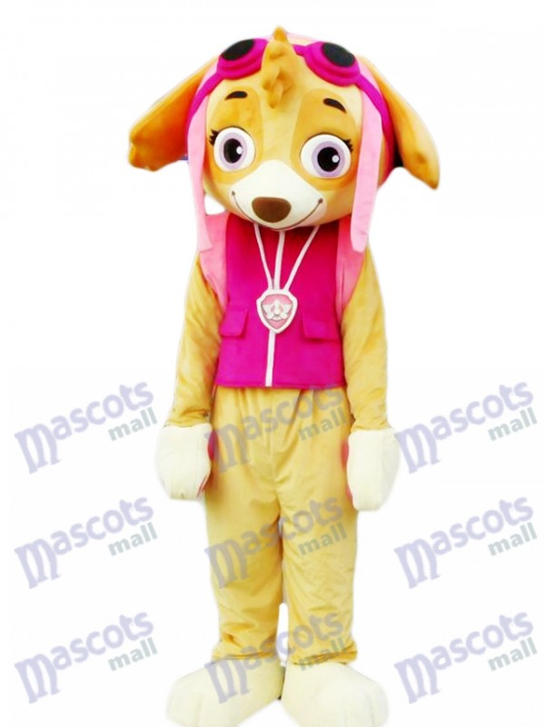 Paw Patrol Skye Mascot Costume Pink Dog Fancy Suit Cartoon Character