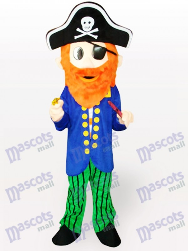 Costume de mascotte adulte de dessin animé de pirate