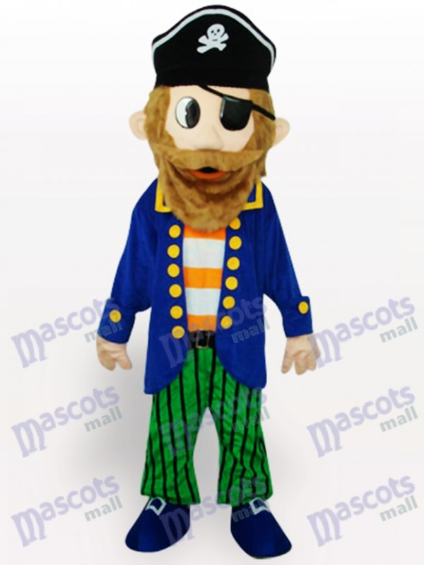 Costume de mascotte adulte Cartoon coloré de pirate
