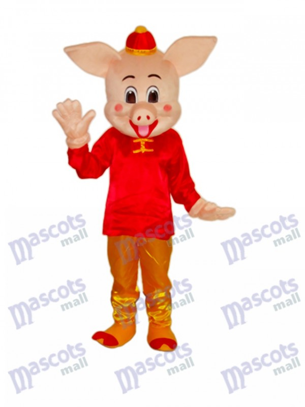 Mascotte de Cochon d'Or Costume Adulte Animal