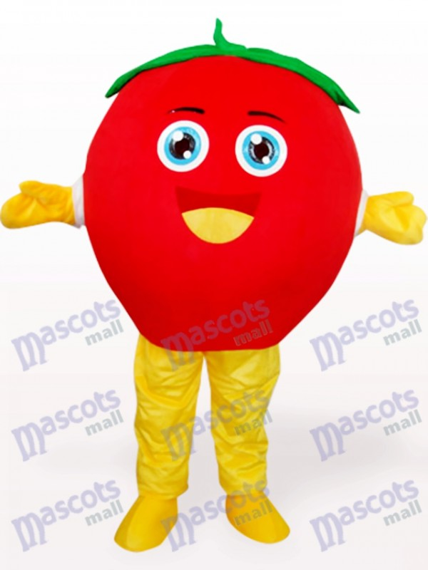 Costume de mascotte adulte heureux fruits tomate