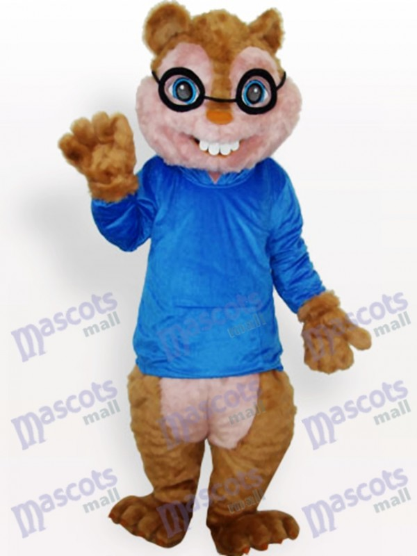 Costume de mascotte adulte animal bleu écureuil